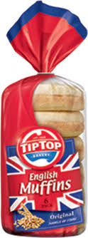 Muffins English pack of 6 Tip Top
