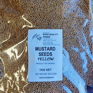 Mustard Seeds Yellow 1kg Bag EVOO QF