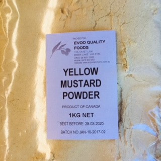 Mustard Powder Yellow 1kg Bag EVOO