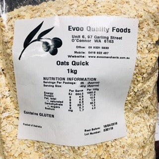 Quick Oats 1kg Bag EVOO