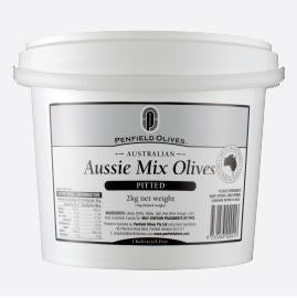 Mixed Pitted Aussie Olives 10kg Tub Penfields