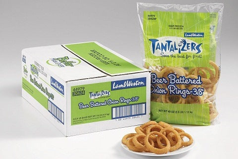 Beer Battered Onion Rings 4 x1.13kg (10mm) Case Lamb Weston