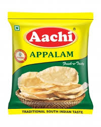 Aachi Appalam Papadams 100g (Plain)