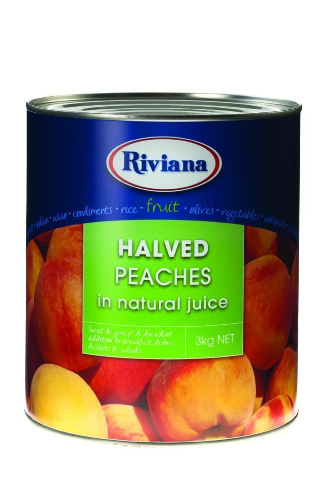 Peaches Halved A9 Tin