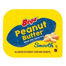 Peanut Butter Portions 11g x 50-  Box Bega