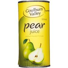 Pear Juice 850ml Tin Goulburn Valley