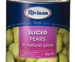 Pear Sliced A9 Tin Riviana