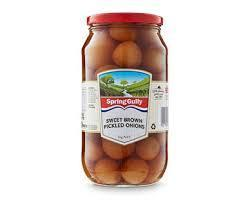 Sweet Brown Pickled Onions 2kg Spring Gully