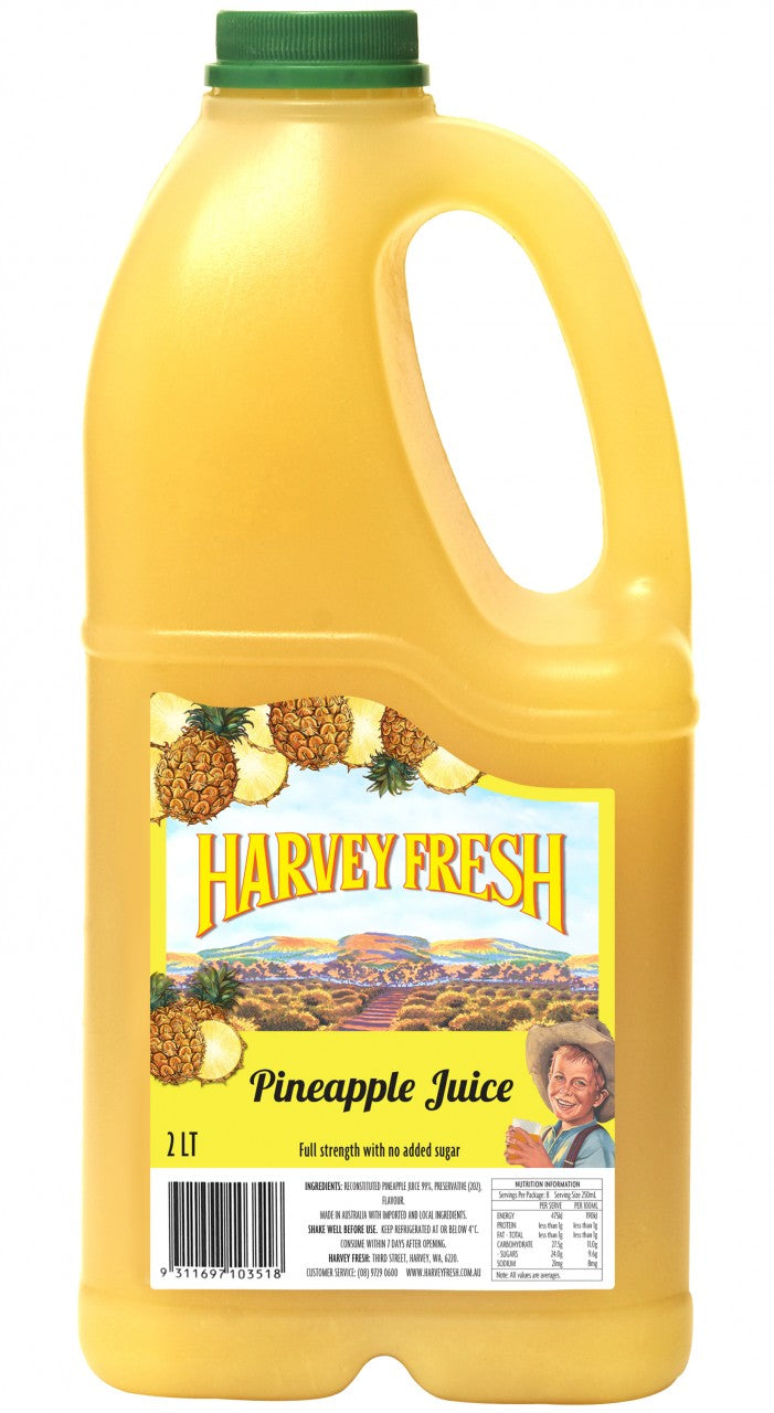Pineapple Juice Long Life P. E. T 2 Litre Harvey Fresh