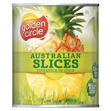 Pineapple Sliced 825g Tins In Natural Juice