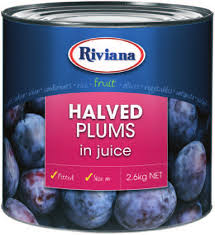 Plums Halved in Syrup A10 (2.6kg)Tin Riviana