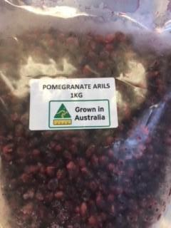 Pomegranate Arils 1kg Resealable Pouch (Frozen) Harvestime