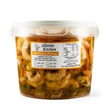 Marinated Prawns 5kg tub Alberto Kitchen