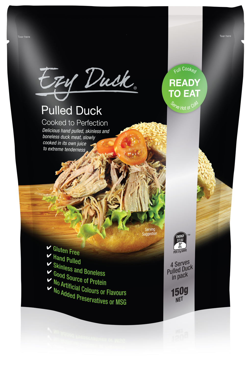 Pulled Duck Meat 150g Pkt Ezy Duck