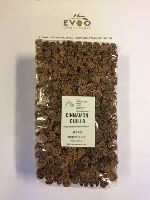 Cinnamon Quills (Not Cassia Sticks) 1kg Bag EVOO QF