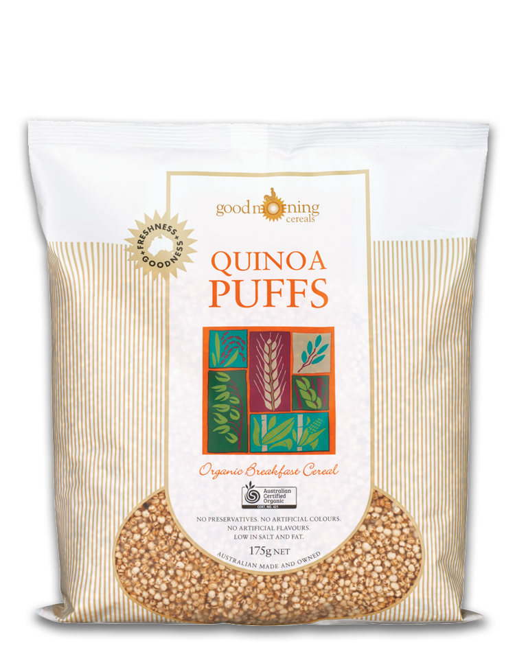 Quinoa Puffs 175g Good Morning (Pre Order 7 days)