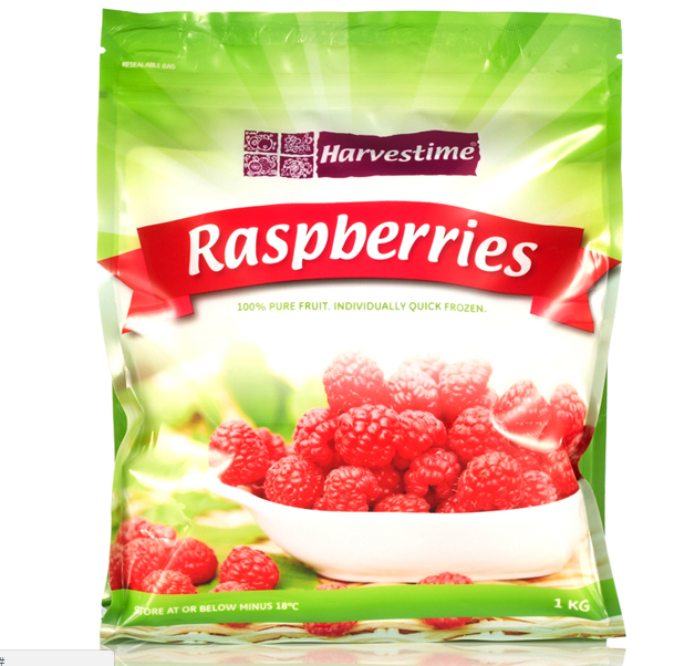 Raspberries Frozen 1kg Bag Harvestime (Product ofSerbia)