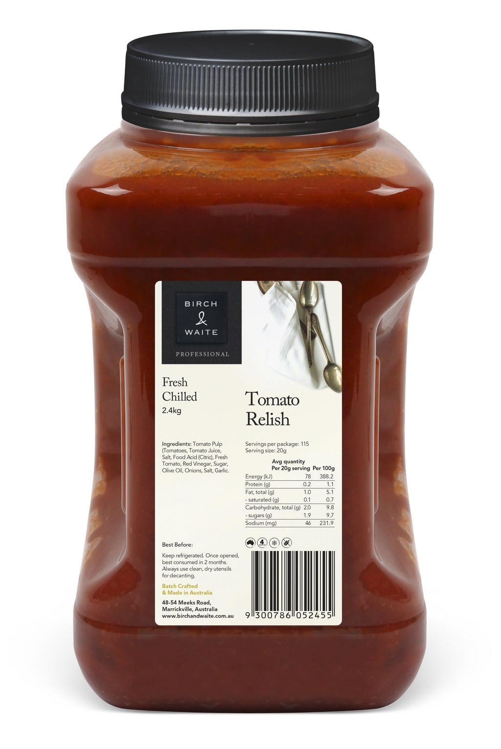 Tomato Relish 2.4kg Tub Birch & Waite