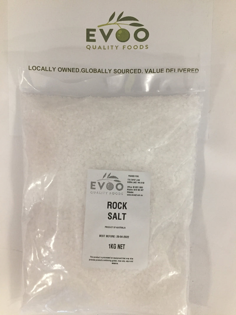 Rock Salt 1kg Bag Evoo