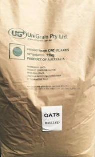 Rolled Oats 15kg Bulk Bag  Uni Grain