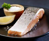 Salmon Portions 200g 5kg Case - Skin On (KB's)