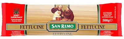 Fettuccine Pasta Dried 500g Packet San Remo (82#)