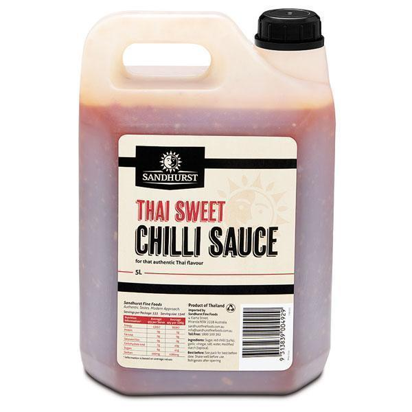 Sweet Chilli Sauce 5lt Bottle Sandhurst