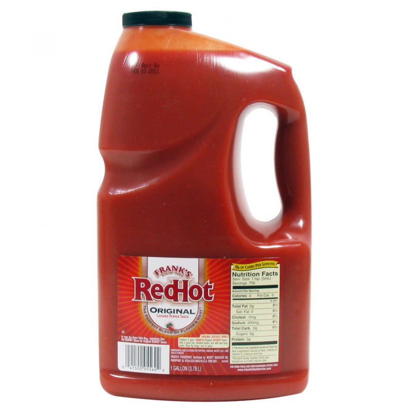 Frank's Original Red Hot Sauce 3.8lt Bottle