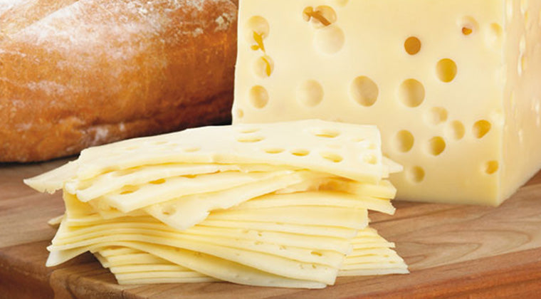 Swiss Cheese Slices 1kg (Baguette) Kitchen 2 Kitchen