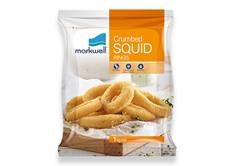 Squid Rings Crumbed 5 x 1kg Box (15-20g) Markwell