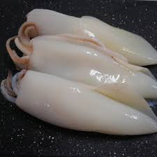 Squid Whole Cleaned 4-6 IQF Loligo 1kg bag frozen