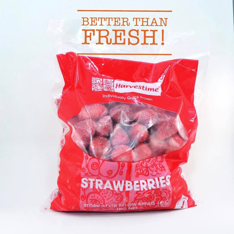 Strawberries Frozen 1kg Bag Harvestime
