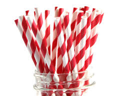 Paper Straws Red/ White (2500 Carton) Tailored Packaging