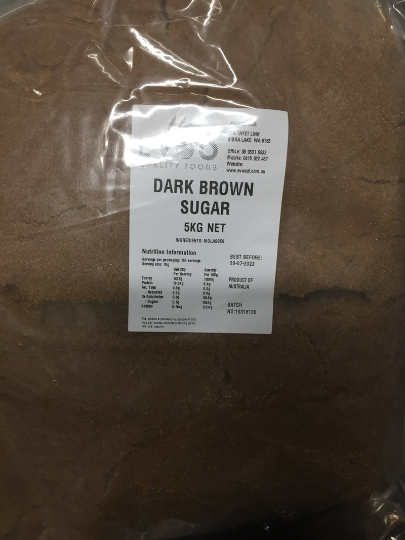 Dark Brown Sugar 5kg Bag EVOO QF