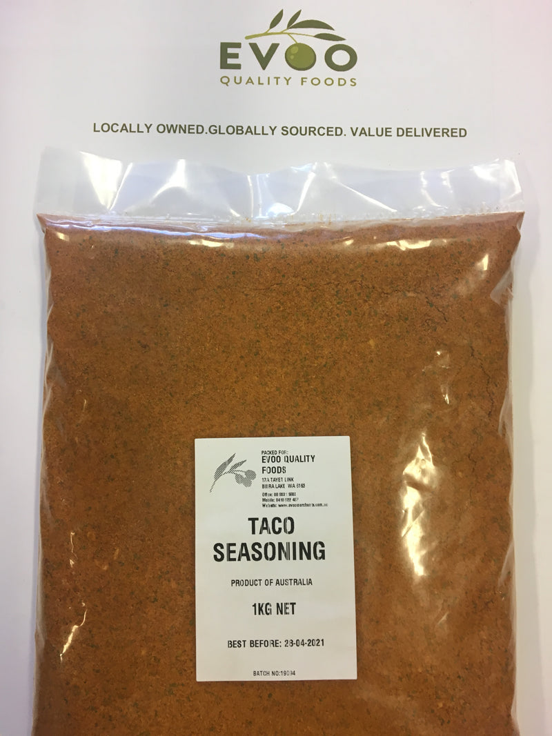 Taco Seasoning (Gluten Free) 1kg Bag EVOO