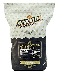 Van Houten Dark Chocolate Couverture buttons 53.9% 1.5kg bag