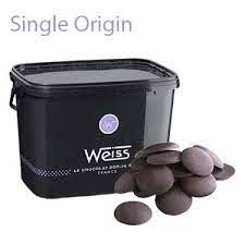 Weiss Dark Chocolate Li Chu Couveture buttons 64% 5kg  (Pre Order 3 Days)