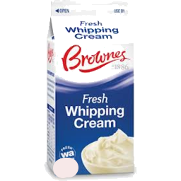 Pure Whipping Cream 1lt Bottle Brownes