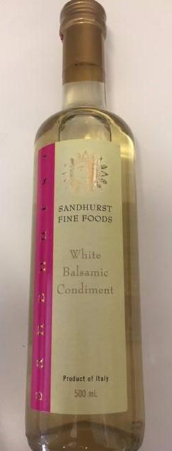 Balsamic White Vinegar 500ml Bottle Sandhurst