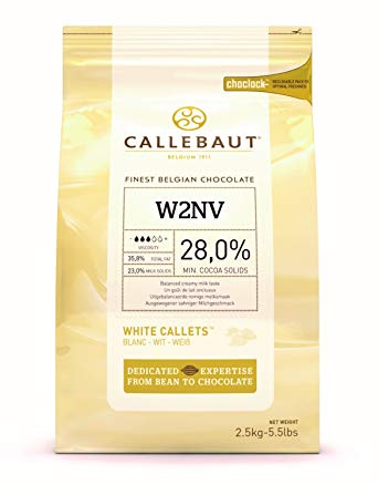Callebaut White Chocolate Callets / Buttons  28% 2.5kg