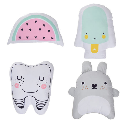 Cute Watermelon, Teeth, Totoro and Ice cream Pillow For Kids