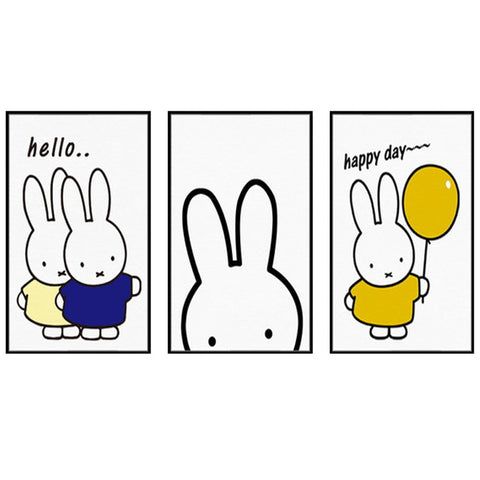 Miffy Rabbit Wall Art Minimalism Quotes Painting