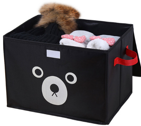 Foldable Bear Printing Home Organizer Storage Box