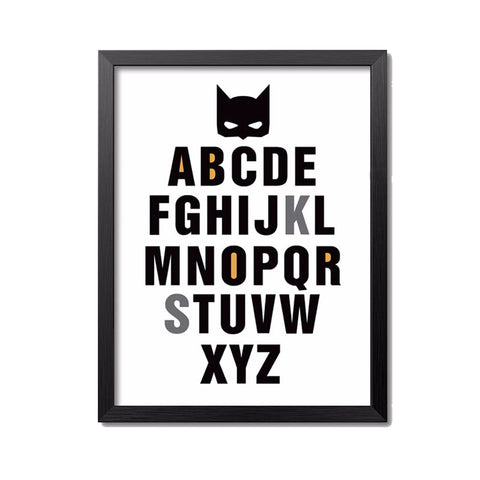 Batman Paintings Poster For Kids Room Decoration