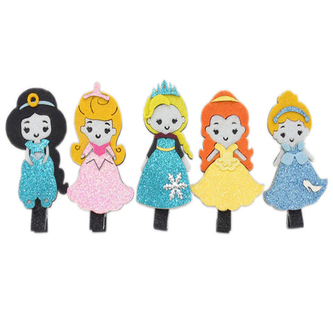 10pcs/lot Glitter Crown Fairy Tale Character Hairclips