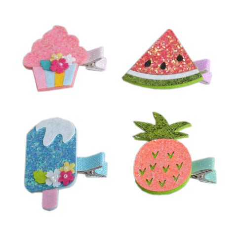 Lovely Ice-cream Fruit Colorful Hair Clips