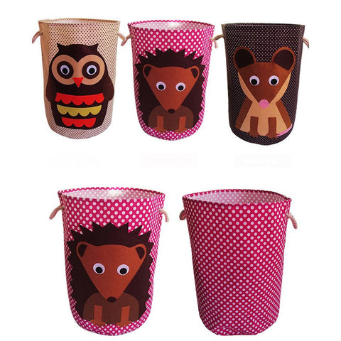 Animal Folding Laundry Basket For Kids Room