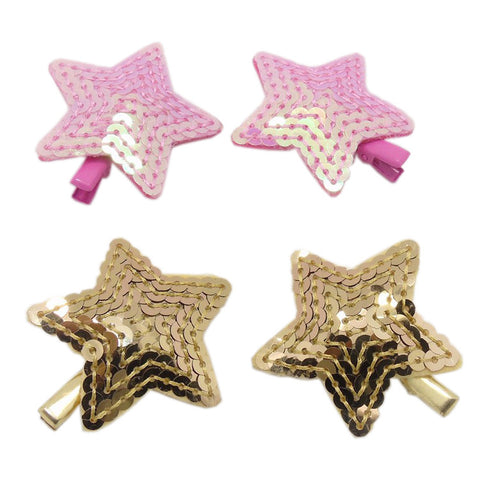 Sequin Star Metal Hair Clips Trendy Accessory