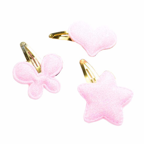1 Pc Sequins Heart Butterfly Star Barrettes Glitter Hair-clips