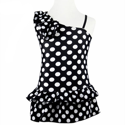 Lovey  Polka Dots Girls One-Piece Swimsuit